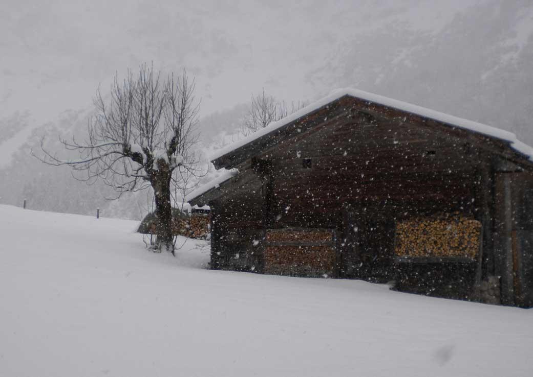 Almhütte-im-Schnee