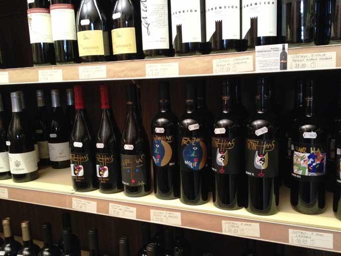 Weine aus Südtirol im Weinregal