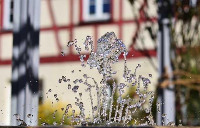 Brunnen im Klostergarten Weissenburg