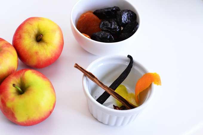 Zutaten für das Trockenfrüchte Kompott