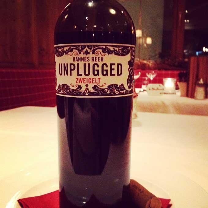 Zweigelt Unplugged Weinflasche
