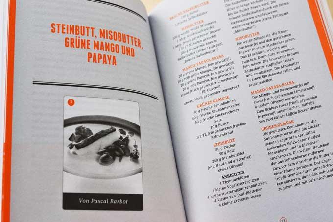 Roland Trettl Serviert Innenseite Buch mit Rezept