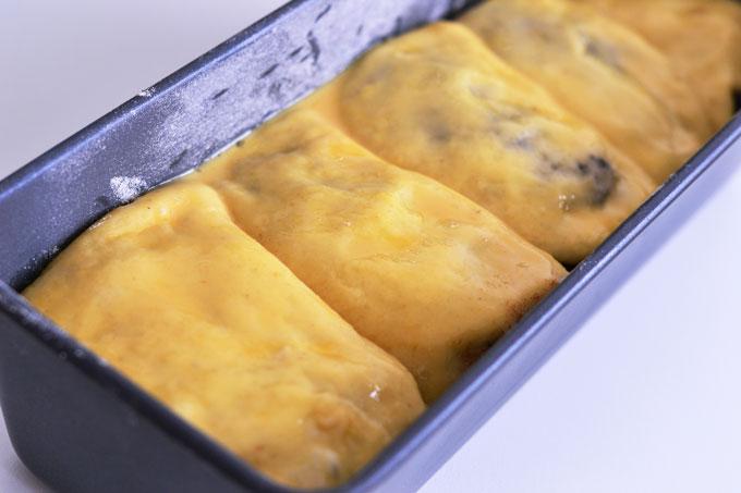 Brioche mit Schokolade in Kastenform zum Backen