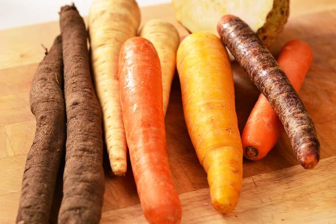 Karotten, Schwarzwurzel, Petersilienwurzel, Sellerie