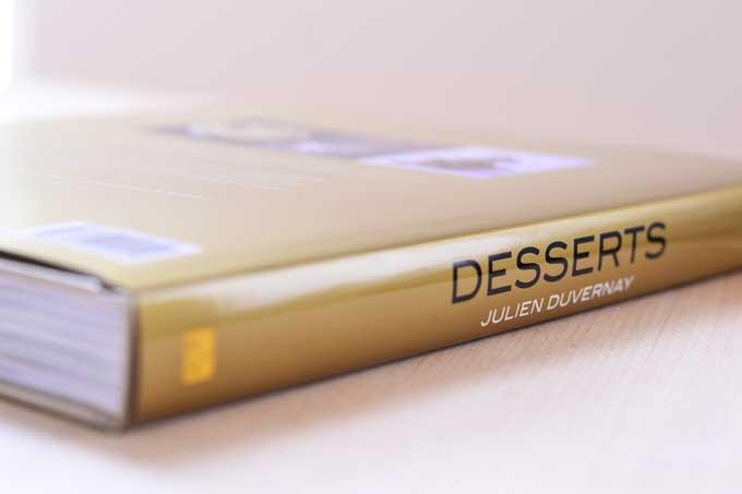 Außenansicht Buchrücken Desserts von Julien Duvernay