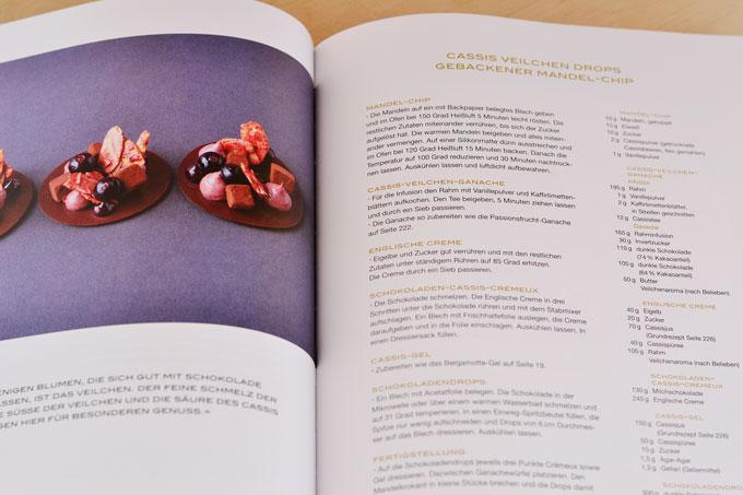 Innenseite des Buchs Desserts