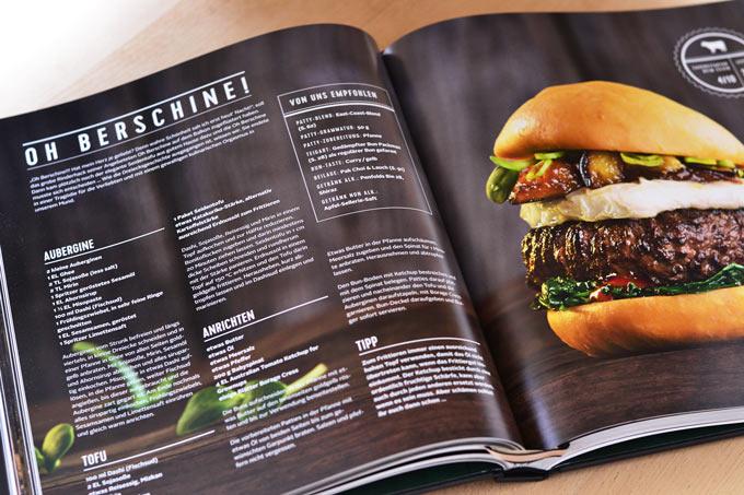Burger Unser Innenseite mit Burgerrezept