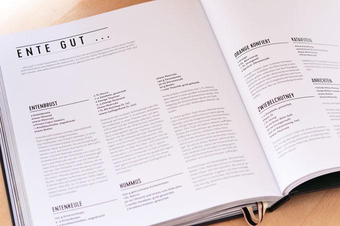 Burger Unser Buch Innenseite mit Rezept