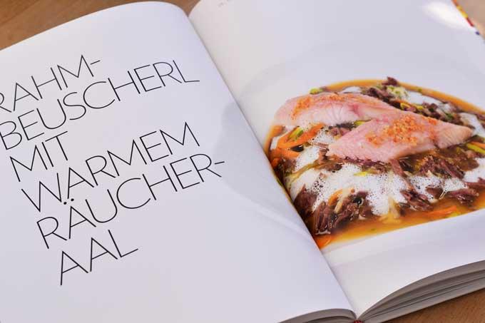Kochbuch Hans Hass Doppelseite mit Innereien Rezept