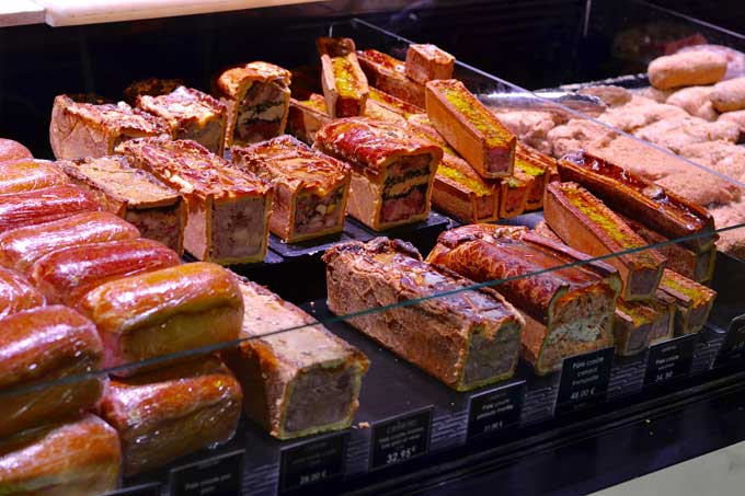 Pasteten in Les Halles Lyon