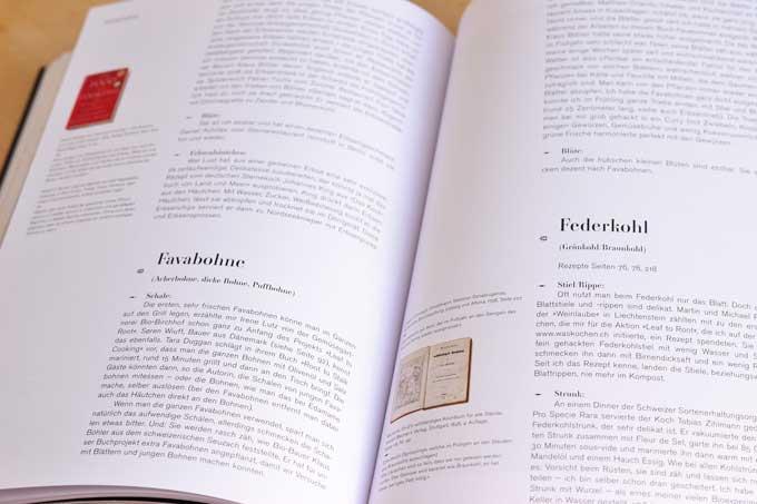 Innenseite aus dem Kompendium des Buchs Leaf-to-Root