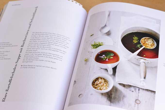 Innenseite aus dem Leaf-to-Root Buch mit Rezept