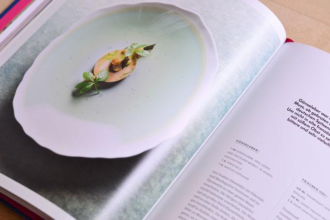 Rezeptdoppelseite Gänseleber aus dem Kochbuch My Way