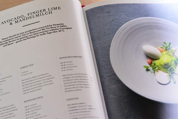 Beispiel für eine Rezeptseite im Kochbuch My Way von Tim Raue
