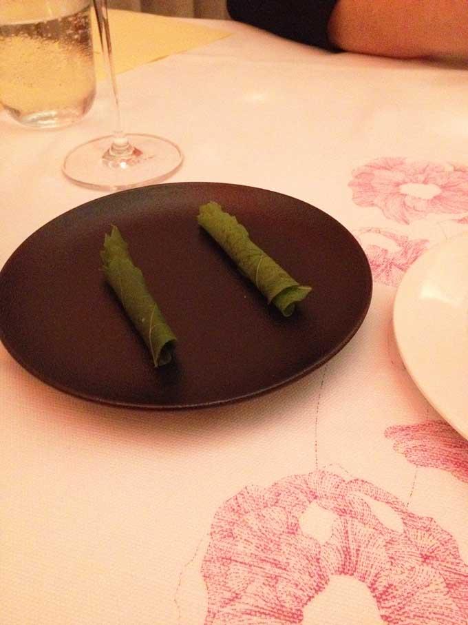 Appetizer: Lindenblatt gefüllt